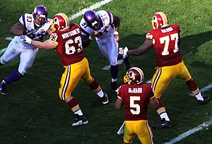2010 Minnesota Vikings season - Minnesota on defense at the Washington Redskins in week 12, November 28