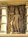 Khajuraho India, Lakshman Temple, Sculpture 04.JPG