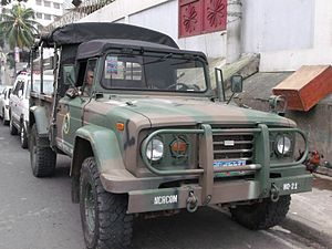 National Capital Regional Command (Philippines) - A Kia KM-450 Truck assigned to the NCR Command during one of its MEDCAP Missions in Bgy Sto. Domingo, Quezon City.