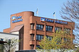Volksbanken und Raiffeisenbanken - Volksbank Kiel, showing the BVR banks' logo