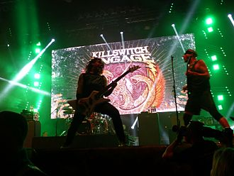 Killswitch Engage - Killswitch Engage performing in Budapest in 2016