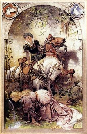 "English: Illustration to a fairy tale ""Ki..."