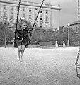 Kislány hintázik, 1959. Fortepan 13686.jpg