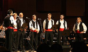 Music of Croatia - A Klapa group at a concert in Zagreb