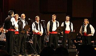 Klapa form of traditional a cappella singing in Dalmatia, Croatia