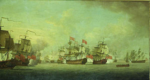 Battle of Havana (1748) - Knowles action off Havana by Thomas Craskell