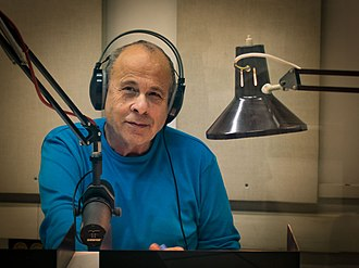 Israel Broadcasting Authority - Kobi Barkai reading the hourly news cast in Kol Israel studios