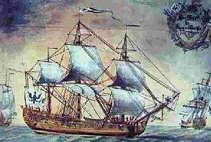 Emden Company - The Frigate King of Prussia based at Emden.