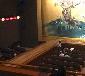 Hanamichi - The hanamichi at National Theatre of Japan