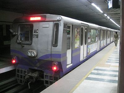 The Kolkata Metro is the oldest metro system in India KolkataMetro3000siries.JPG