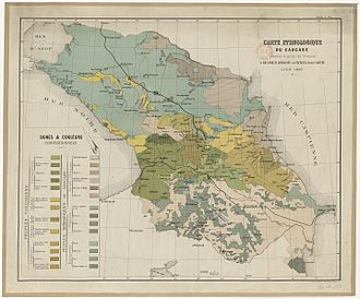 Peoples of the Caucasus - Ethno-linguistic groups in the Caucasus region 1887.