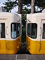Kotoden 1101 and 1104 at Kotoden Kotohira.jpg