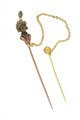 Kråsnål med figur med turban smyckad med smaragd och rubin. Från 1800-talet - Livrustkammaren - 97871.tif