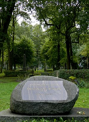 Kristjan Jaak Peterson - Grave of Kristjan Jaak Peterson in Pokrov Cemetery Riga