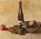 Kurt Schwitters - Still life with wine bottle and fruit.jpg