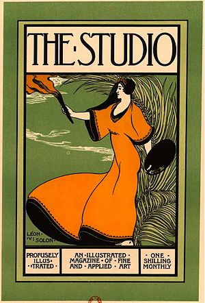 The Studio (magazine) - Poster by Léon-Victor Solon advertising The Studio.