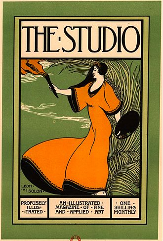 The Studio (magazine) - Poster by Léon-Victor Solon advertising The Studio.