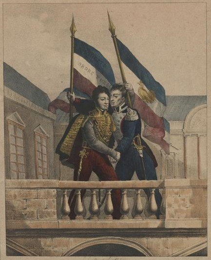 La Fayette et Louis-Philippe - 31 juillet 1830