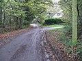 Lackenhurst Lane meets Baker's Lane on the right and Netherwoods Road on the left - geograph.org.uk - 1579933.jpg