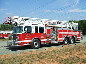 Charlotte Fire Department - Ladder 18 is located in west Charlotte. The Wild Wild West