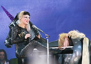 "English: Lady Gaga performing ""Hair""..."