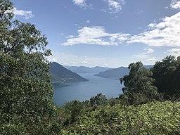 Lago Maggiore southward, from the Monti di Ronco