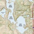 Lake James, Pokagon, Jimmerson map (Indiana).png