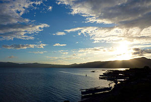 Lake Mainit Surigao del Norte sunset.JPG