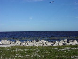 Palm Beach County, Florida - View of Lake Okeechobee from Pahokee