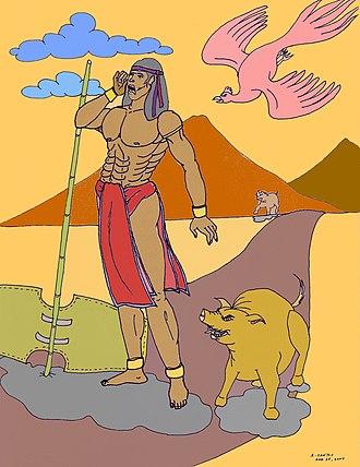 Biag ni Lam-ang - An illustration depicting the protagonist Lam-ang