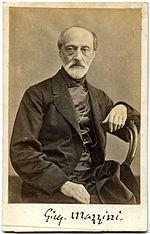 Giuseppe Mazzini, di cui Crispi fu seguace e con cui ebbe contatti a Londra.