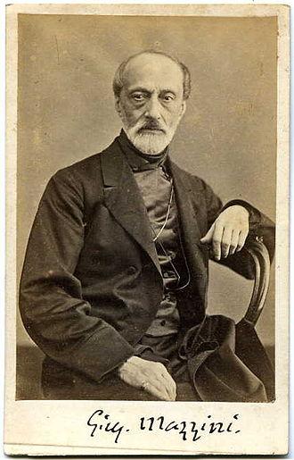 Giuseppe Mazzini - Photograph of Mazzini by Domenico Lama