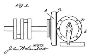 Friction drive - Lambert friction drive transmission. patent 761384