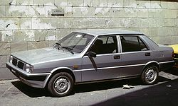 Lancia Prisma with clear wall.JPG