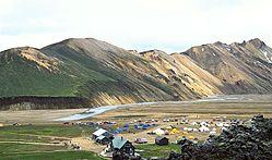 Landmannalaugar campsite.