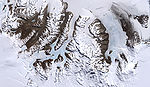Foto: Robert Simmon, NASA McMurdo Dry Valleys, Landsat 7-bilde fra 18. desember 1999.