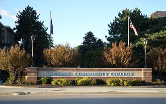 Lansing Community College - The front entrance along Shiawassee Street