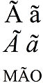 Latin small and capital letter a with tilde.jpg