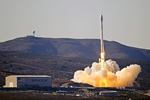 Falcon 9 v1.1 - The launch of the first Falcon 9 v1.1 from SLC-4, Vandenberg AFB (Falcon 9 Flight 6) 29 September 2013.