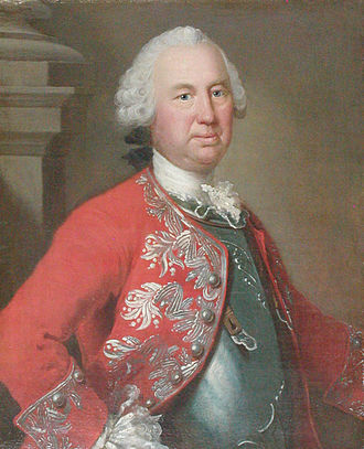 Lauritz de Thurah - Laurids de Thurah painted in 1754  by Johan Hörner