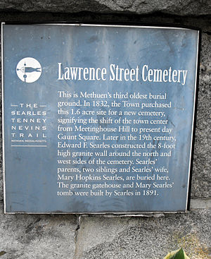 Lawrence Street Cemetery - Image: Lawrence Street Cemetery Sign