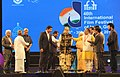 Laxmikant Parsekar lighting the lamp at the inauguration of the 46th International Film Festival of India (IFFI-2015), in Panaji, Goa. The Chief Guest Actor Anil Kapoor, the Governor of Goa, Smt. Mridula Sinha.jpg