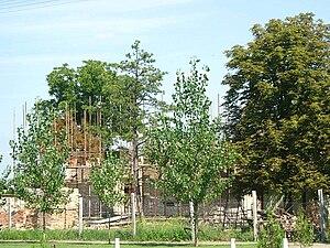 Lazarevo - The Orthodox church under construction.