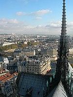 Le toit et la flèche de la cathédrale de Notre-Dame de Paris, depuis les tours.jpg