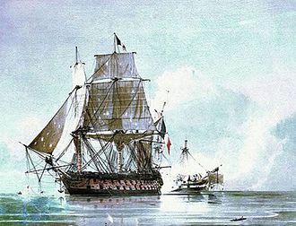 Benjamin Godwin - H.M.S. Généreux (before the ship joined the Royal Navy and Godwin was in the crew.)