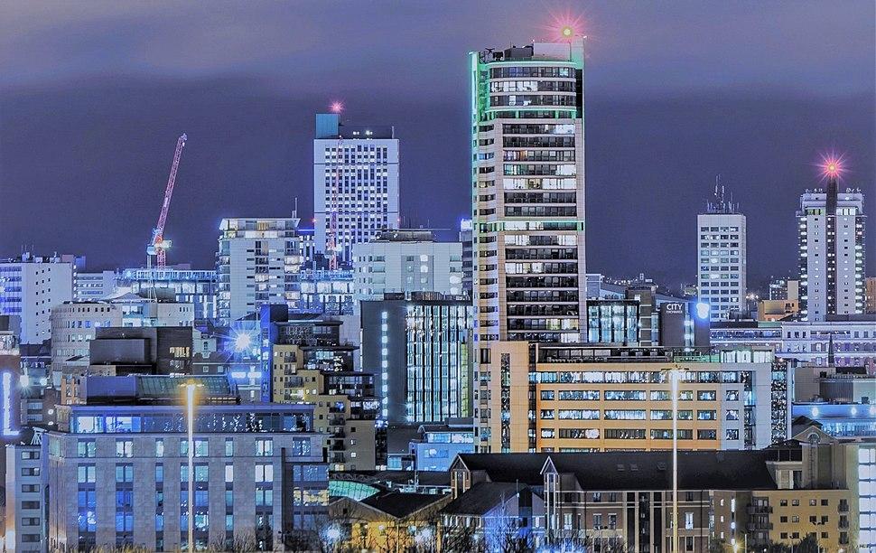 Leeds CBD at night