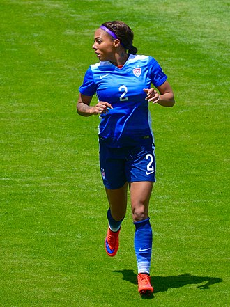 Sydney Leroux - Leroux playing for the United States National Soccer Team in Washington, D.C. on May 10, 2015.
