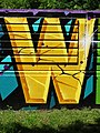 Letter W on Wall - City Park - Brest - Belarus (26871445364).jpg