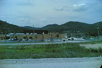 Lewis County, Kentucky - A view of the Lewis County Middle School near Vanceburg from KY 10