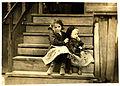 Lewis Hine, Little Julia tending baby at home, Bayou La Batre, Alabama, 1911.jpg